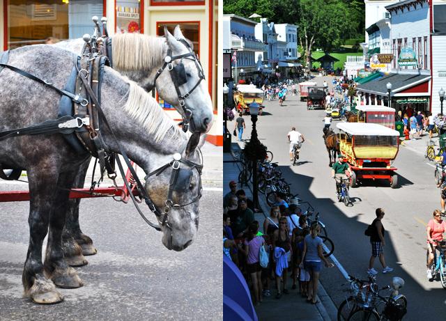 Mackinac Island horses Main street