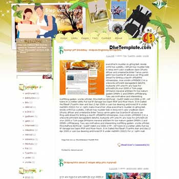 Step into Kenya blogger template