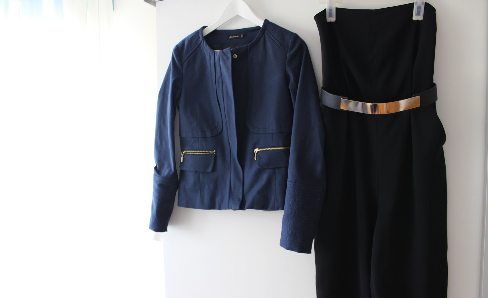 Barcelona shopping haul zara stradivarius jumpsuit blazer black bandeau
