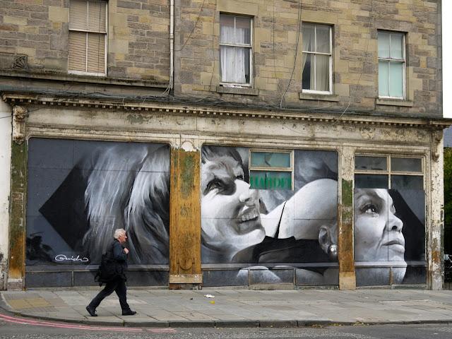 Street Art By Guido Van Helten On The Streets Of Edinburgh, Scotland. 1