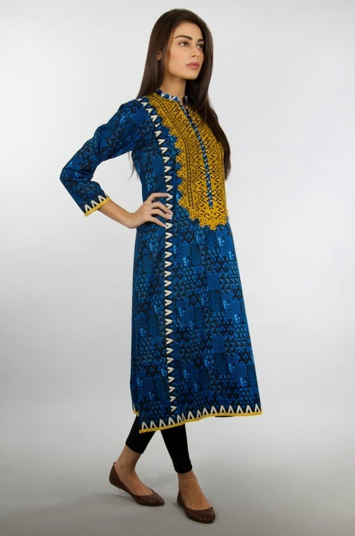 Latest Girls Kurta Casual Wear Shalwar Kurta Designs 2015