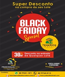 BLACK FRIDAY NOVA TERRA