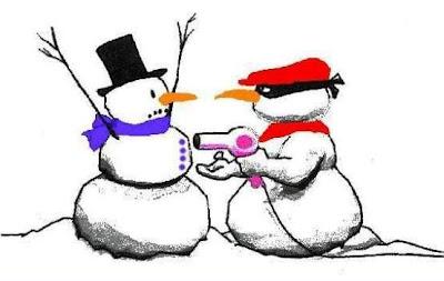 Funny Christmas Cartoons Snowman Heist