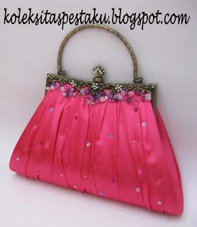 Tas Pink Fanta Model Behel Mewah Elegant Pesan Dulu