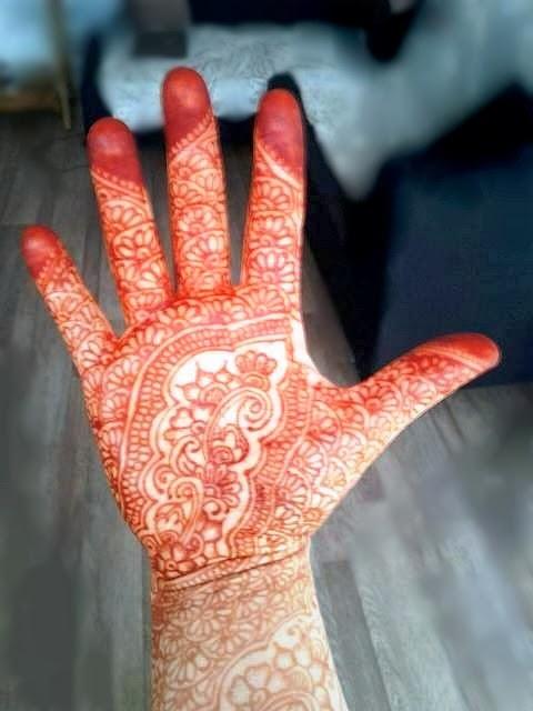 motif henné indien