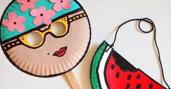 sc 1 st  Pink Stripey Socks & Summer Paper Plate Crafts | Pink Stripey Socks