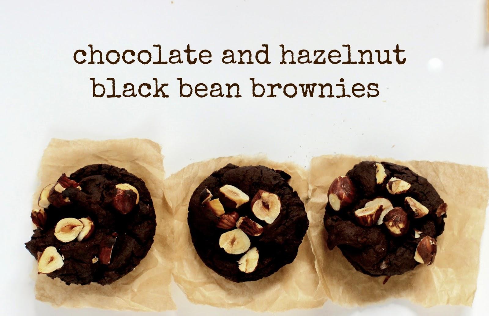 Chocolate And Hazelnut Black Bean Brownies