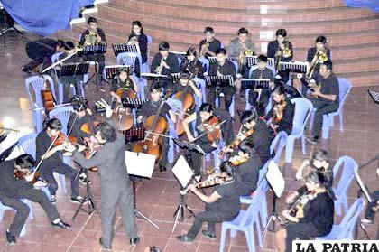 Orquesta Sinfónica de Tarija logró grata impresión en el público orureño