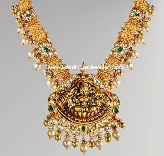 Temple Jewellery with Gold Beads
