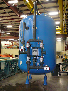 A new water softener before shipment to the Food and Flavorings Plant