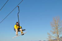 My brother on the ski lift