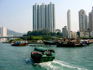 hongkong aberdeen harbour view