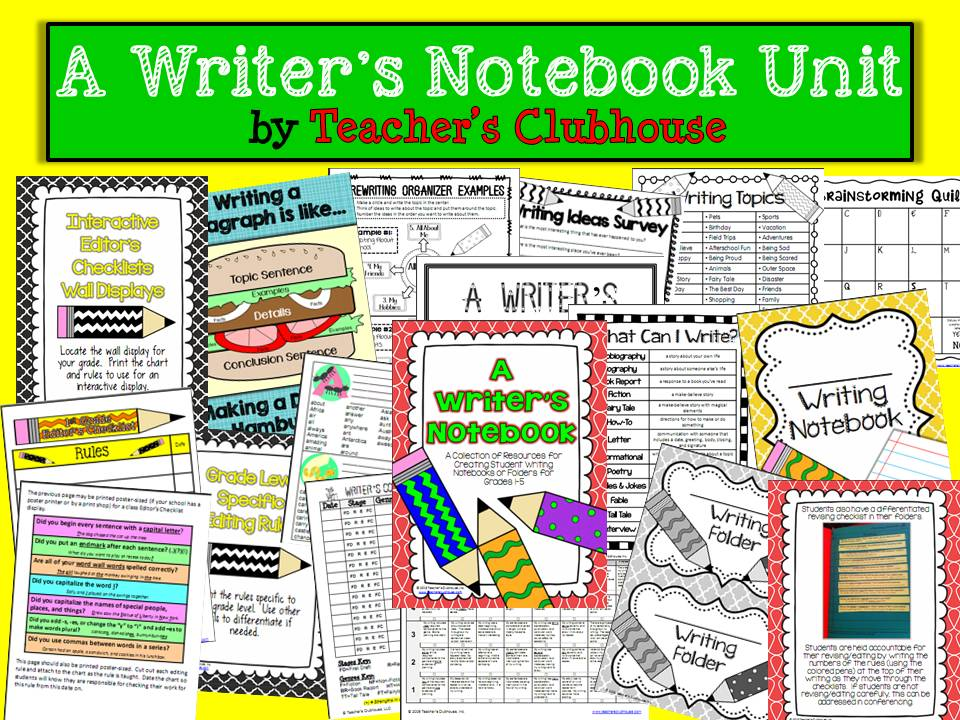 https://www.teacherspayteachers.com/Product/A-Writers-Notebook-Unit-835817