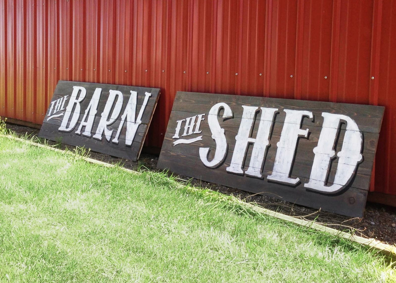 The Barn and The Shed Custom Signs