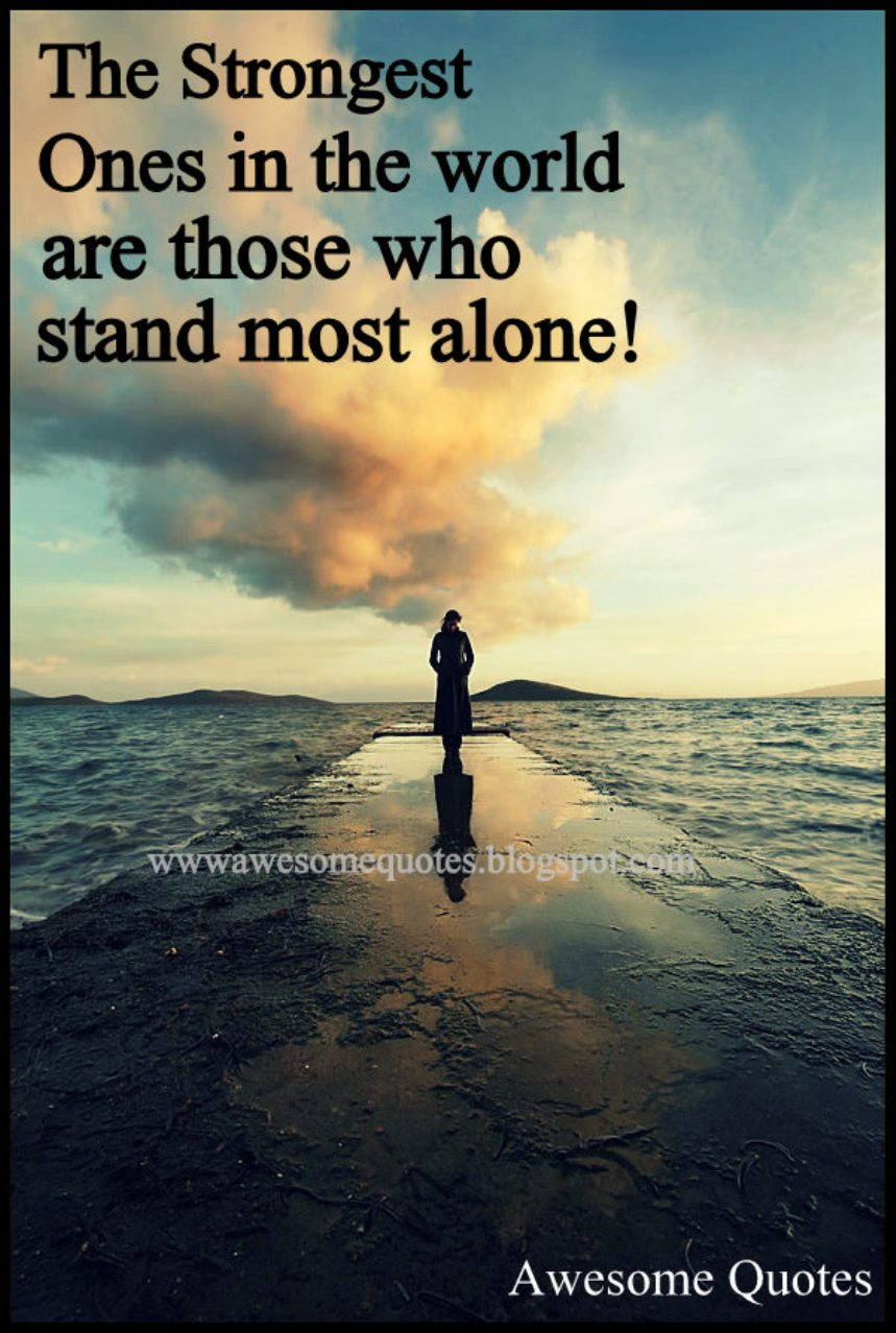 alone in the world quotes quotesgram