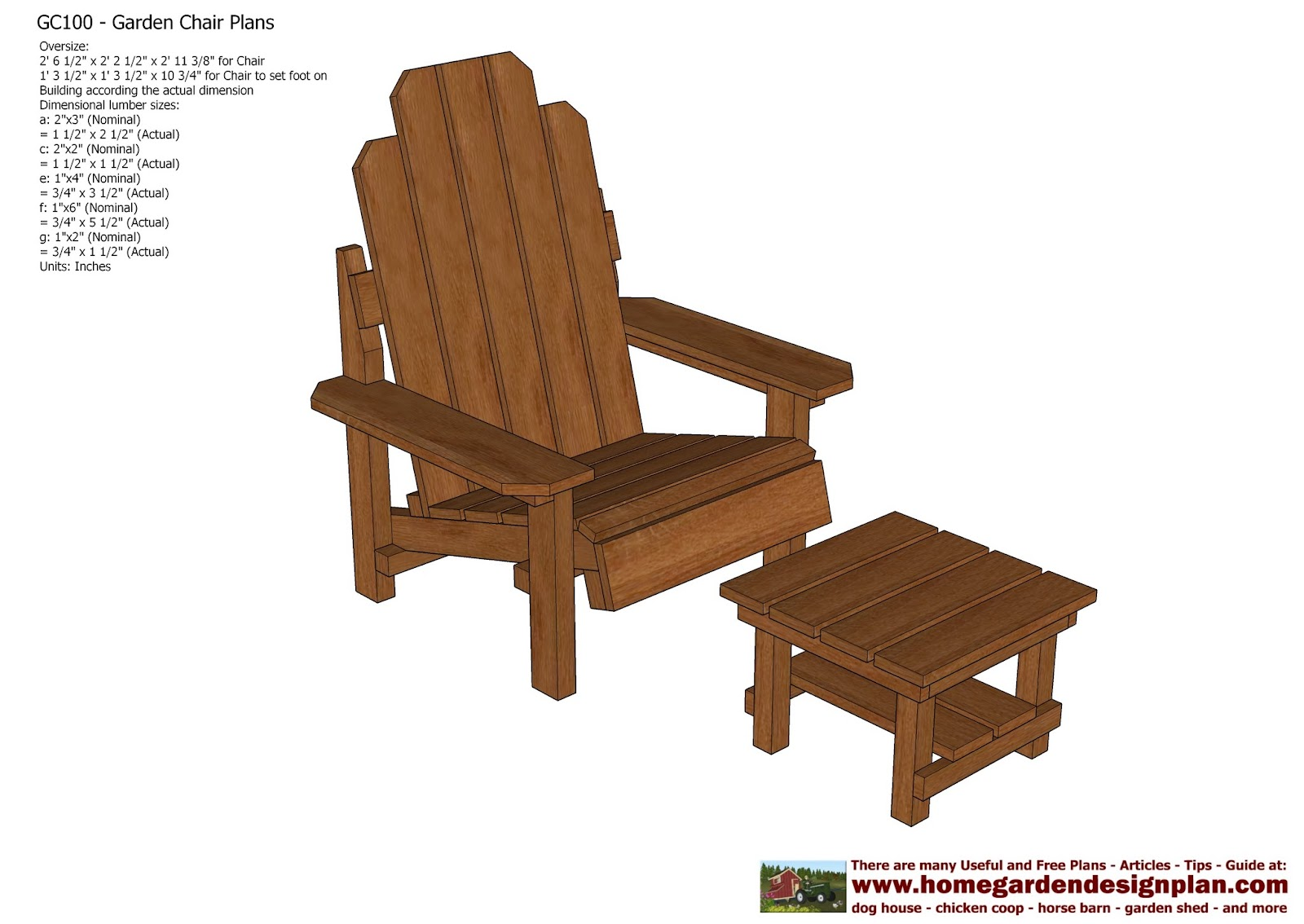 Garden Furniture Plans home garden plans: gc100 - garden chair plans - out door furniture