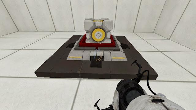 Portal 2 Botón de cubo y cubo contrapesado