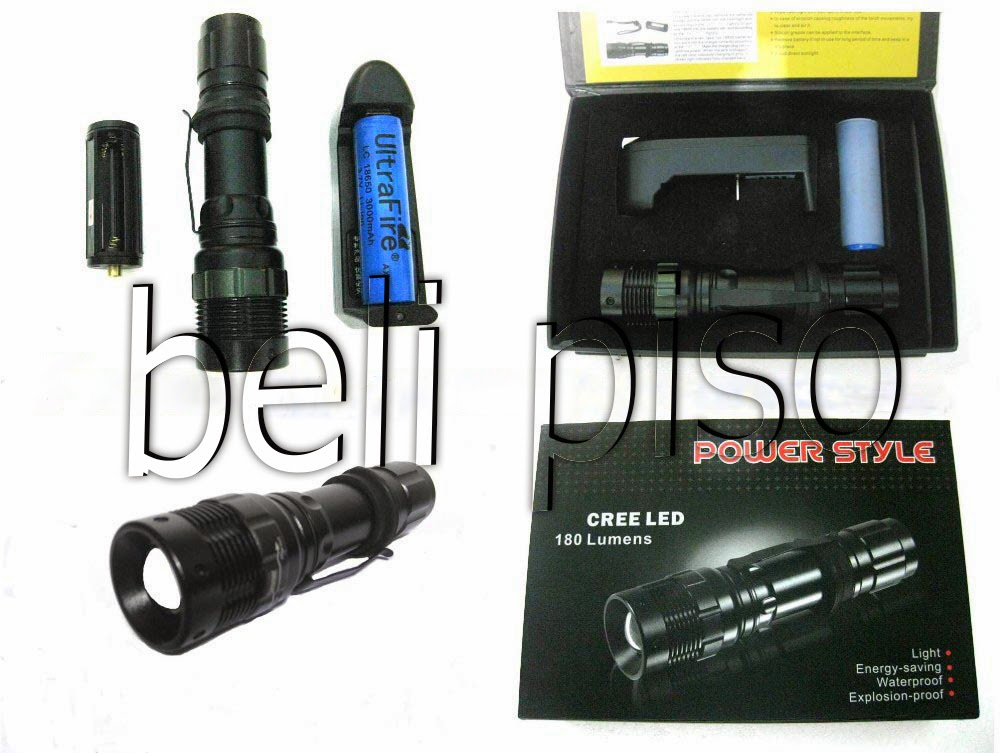 Jual Senter Zoom Police Power Style Cree LED