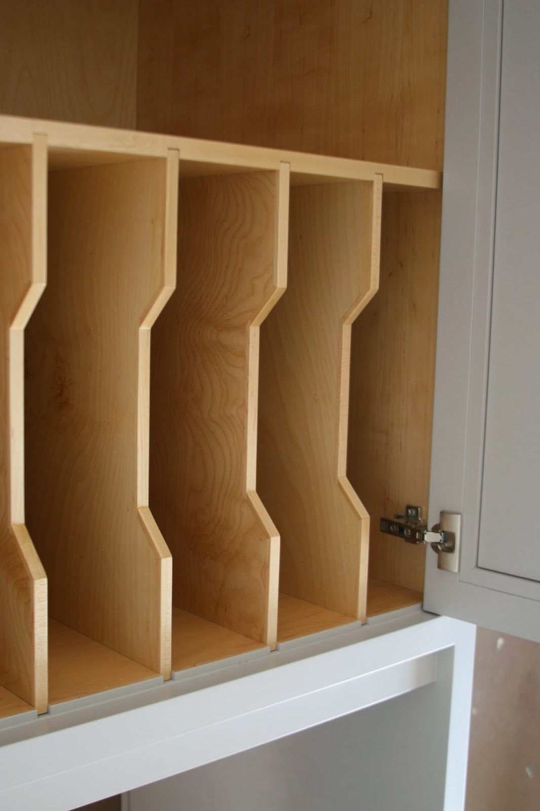 Lucy 39 s forever home cabinet sneak peek - Vertical tray dividers kitchen cabinets ...