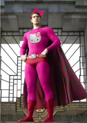 Hello Kitty superhero man