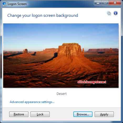 logon screen | mengganti gambar logon screen menggunakan klik kanan