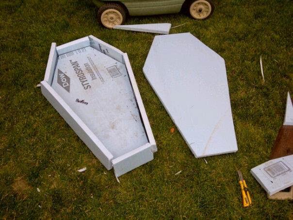 halloween haunt 2014 how to build a coffin prop