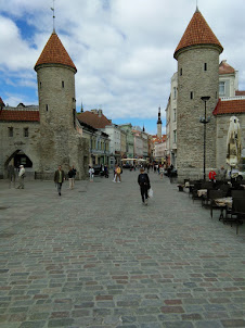 Viru Gate in Tallinn.