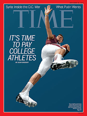 Johnny Manziel on cover of Time magazine
