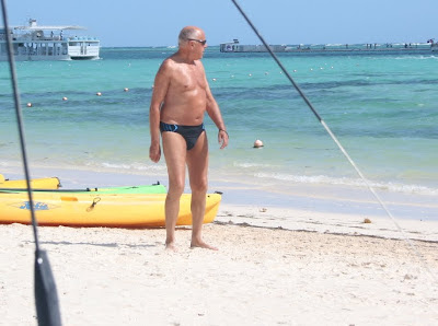 handsome picture man - naked on the beach - old mature man