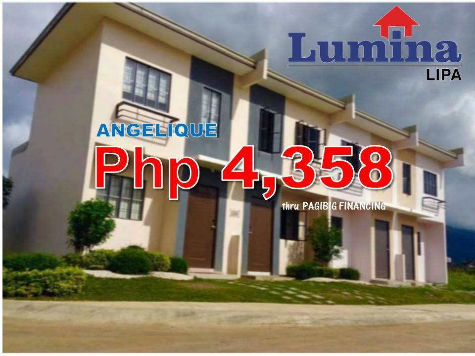 Rent To Own House In Lipa Batangas Lumina Homes Angelique P4,358 Monthly