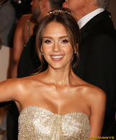 Jessica Alba Alexander McQueen Savage Beauty Costume Institute Gala at The Metropolitan Museum of Art