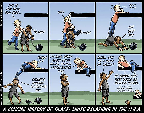 A concise history of black-white relations in the U.S.A.