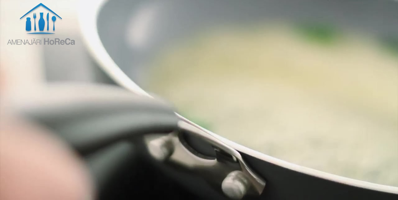 Maner cu Srat Siliconic, Tigaie Ceramica cu Strat Anti-Aderent din Nano-Ceramica, Tigaie Inductie, Tigaie Aluminiu