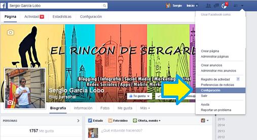 Facebook, Aplicaciones, Acceso