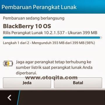Gambar download update BB10