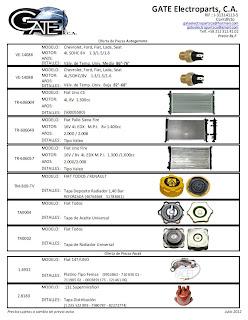 Gate electroparts c a catalogo de piezas oferta for Piezas de fontaneria catalogo