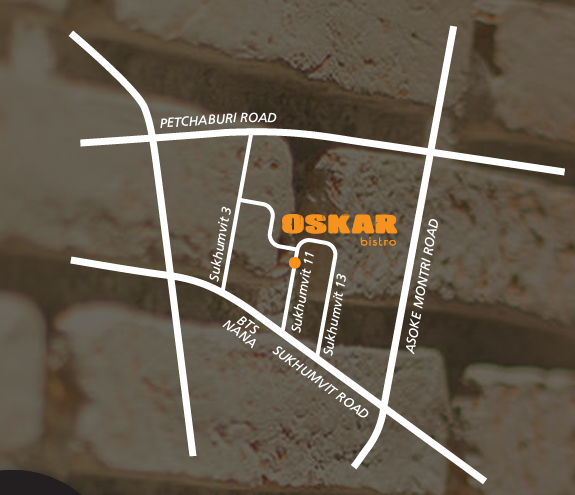 Oskar Bistro Bangkok Map Access