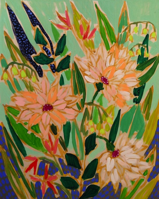 Lulie Wallace Charleston SC Artist Flowers For Victoria Painting