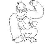 #10 Donkey Kong Coloring Page