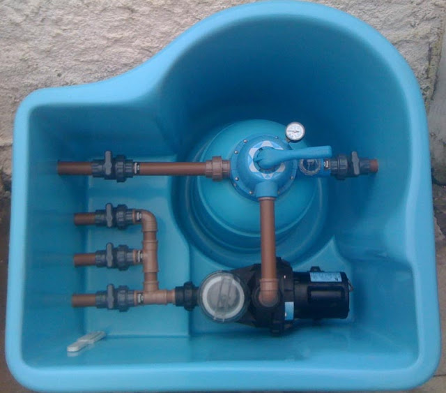 funcionamento da casa de maquina de piscinas