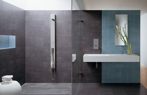 Bathroom modern bathroom shower tiles design for Modern bathroom tile designs pictures