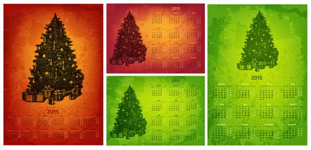 2015 Year vector calendars set