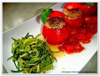Pieczone pomidory.