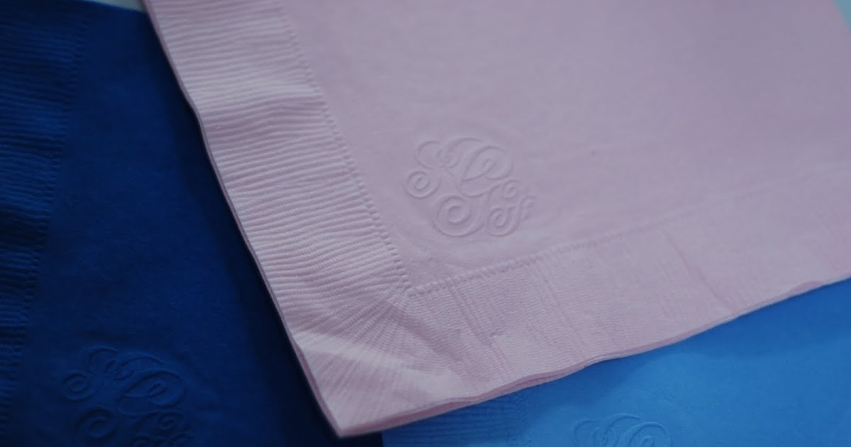 creating newport weddings  diy embossed monogram napkins