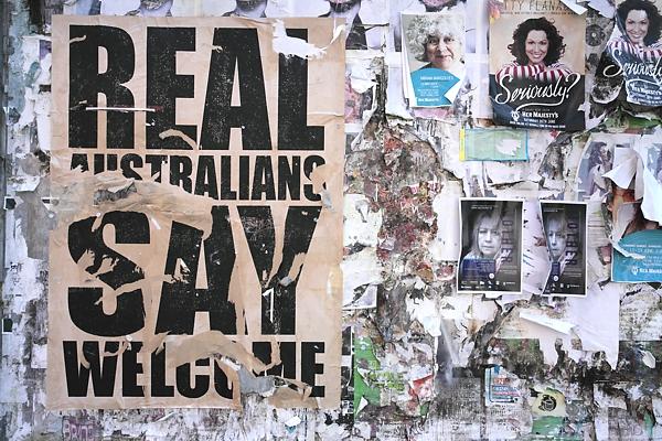 Torn Posters, Police Lane Ballarat.
