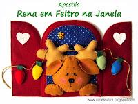 Apostila Rena em Feltro na Janela