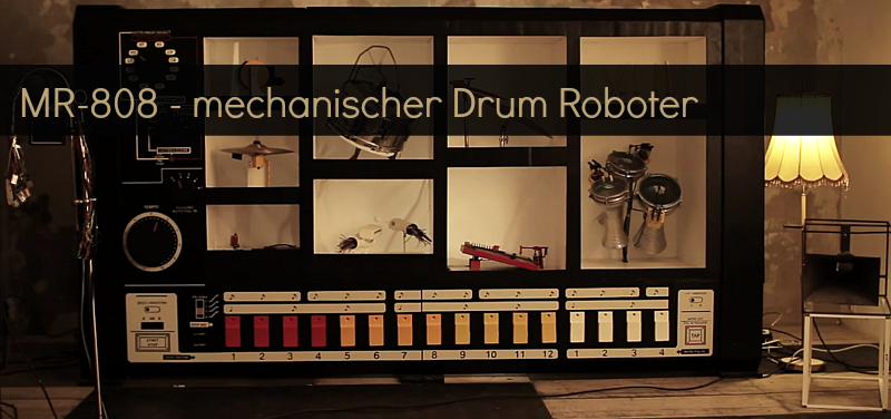 Der Kult-Drum Computer TR808 ( 90th HipHop ) als mechanischer Roboter ( 1 Video )
