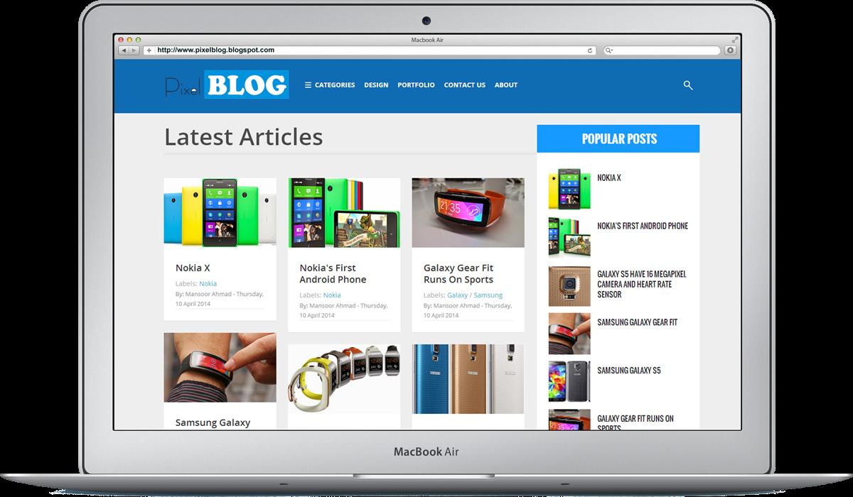 Theme Blogspot làm trang cá nhân Pixel Blog
