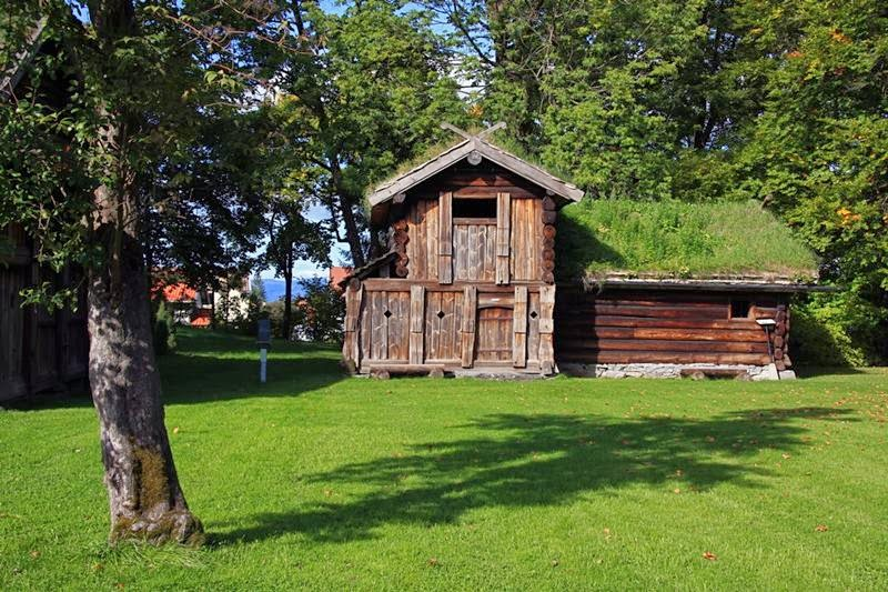 Norwegians traditional grass roof