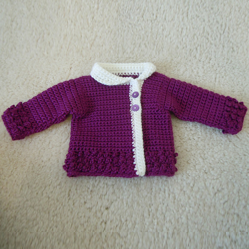 Victorian Rose Baby Sweater